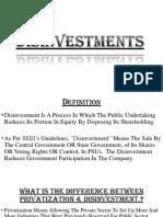 Disinvestment EFM