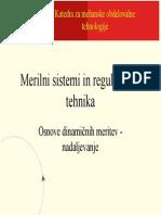 Osnove Dinamicnih Meritev - Dinamicne Lastnosti Merilne Opreme