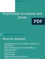 Examination of Muscles and Bones 2009
