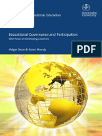 Educational Governance and Participation