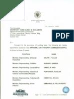 NAPC SR Appointment