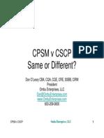 CPSM vs CSCP