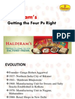 Haldiram's Getting Four Ps Right Case Study