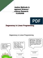 Degeneracy LP Tut07