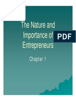 01_The Nature and Importance of Entrepreneurs