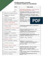 1. Lista Recenzii CARO I