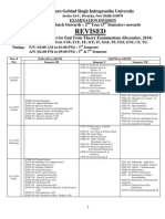 Revised Final Date Sheet b.tech. _all Branches_ - December 2014 Without First Year