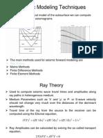 Seismic Modelling