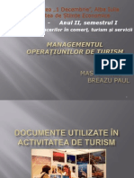 Documente Utilizate in Turism