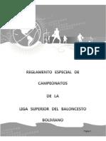 Reglamento Campeonatos Bolivia Basquet