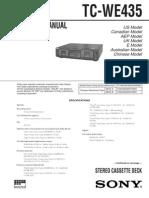 Sony_TC-WE435 Service Manual
