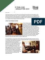 Otley Pub Club Newsletter December 2014