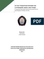 Critical Review terhadap Teori Tempat Pusat Christaller di Kabupaten Jepara