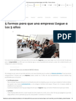 5 Formas Para Que Una Empresa Llegue a Los 5 Años - Pymex _ Pymex