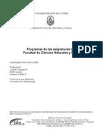 Programa Arqueoamericana1 2000