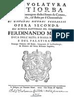 Giovanni Pittoni Ferrarese_Intavolatura Di Tiorba, Opera Seconda (Bologna 1669)_facsimile