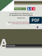 OpinionWay Le Barometre CLAI Metro LCI Du Changement Dans Laction Politique Dec2014 VF