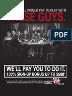 No Fold'Em Texas Hold'Em Chart