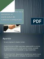 Garanția Pentru Vicii Ascunse În Contractul de (1)