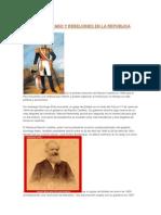 Golpes de Estado y Rebeliones en La República Peruana II