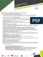 Questions Entretien FR en Pr