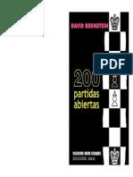 39 Escaques 200 Partidas Abiertas