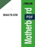 Manual Asus M4A78-EM