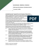 INMETRO-Portaria N° 246-2000 (caracteristicas dos hidrometros)