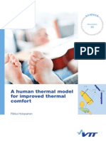 A human thermal model for improved thermal comfort