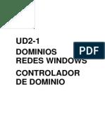 Ud2-1 Controlador de Dominio