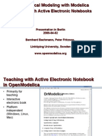 Teaching Modelica With Electronic Notebooks