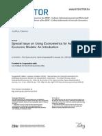 Juselius Econometrics for Economic Models 2009