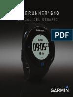 Manual Forerunner 610