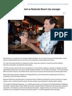 Myredondo.com-Bill Workman Terminated as Redondo Beach City Manager