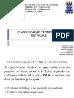 APRESENTAÇÃO_Classificação Técnica Das Estradas