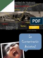 Contaminación Acustica en Huánuco