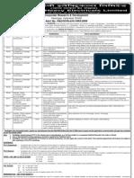 Advt PhD Holders