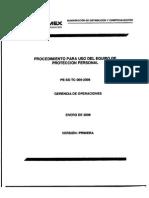 PROCEDIMIENTO PARA EL USO DEL EQUIPO DE PROTECCIÓN PERSONAL.PDF