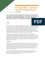 Violencia en Guardias hospitalarias
