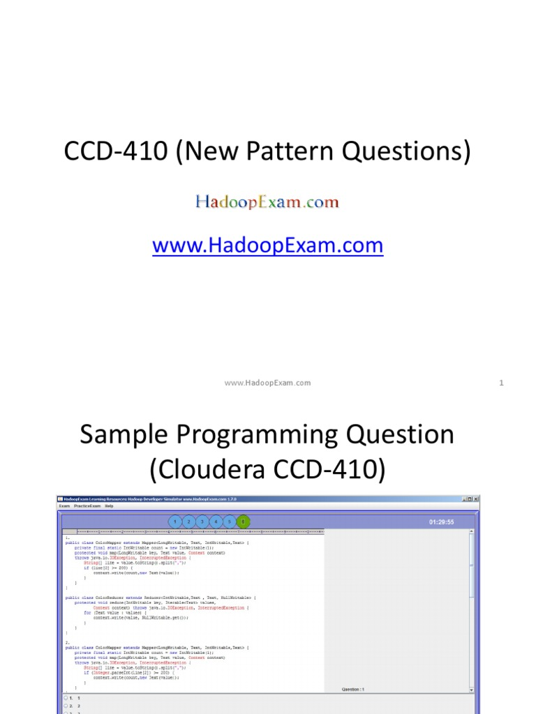 Ccd 410 New Pattern Questions