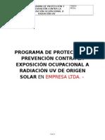 Programa de Radiación UV Solar