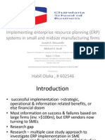 Journal Critique - Implementing ERP systems in SME manufacturing firms - J. Muscatello et al.