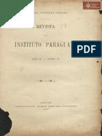 Revista Instituto Paraguayo N° 19 año 1899. Director Guido Boggiani