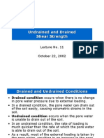 Undrained and Drained Shear Strength