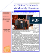 Clinton Democratic Club November 2014 Newsletter