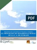 Maquinaria para Agricultura de Montaña en Gipuzkoa. EL PROGRAMA DE DESARROLLO RURAL DE LA C.A. DE EUSKADI 2007-13