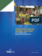 Producción y Empleo Informal