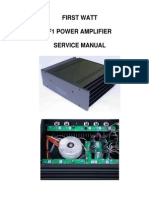 First Watt F1 service manual