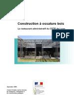 Construction à Ossature Bois - Le restaurant administratif du CETE de Lyon