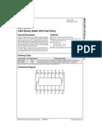 Datasheet - 74LS283 - Somador Binário Completo de 4 Bits